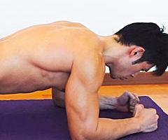 腹筋トレーニング+プランク